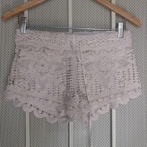 Surf Gypsy Tan Cream Crochet Summer Short